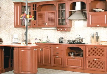 Кухня Миндальный цвет