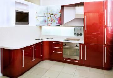 Кухня Красное и белое